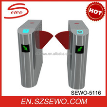 SEWO semi- automatic bi-directional flap turnstile gate security barrier security gate automation access control system outdoor