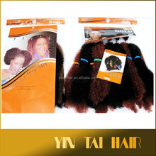 In stock !!! 125g 100% synthetic hair extensions kanekalon fiber Afro kinky curl styles hair bulk for braid