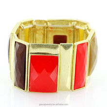 Multi Colored Women Elastic Bracelet Jewelry Fashion