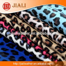 Sexy leopard pu faux leather for ladies shoes and garment