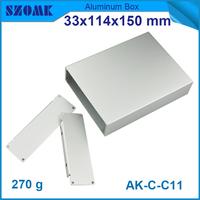 brushed aluminum box 33(H)x114(W)xrandom