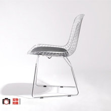 Bertoia side chair upholstered fabric chair/metal base chair/modern furniture