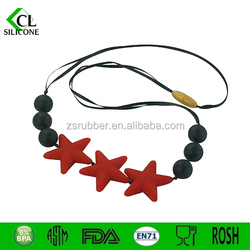 New Wholesale baby silicone teething beads necklace / silicone necklace teething