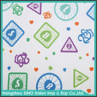 Textile material manufacturer 100%polyester waterproof fabric shower curtain in hangzhou