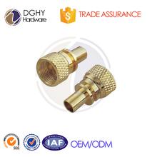 Custom Natural Finish Brass CNC Turning Parts