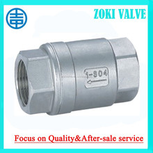 """Female Thread check valve 1/2""""-3"""" 800psi stainless steeel double localization,soft seat available."""