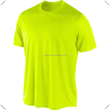 Popular hot sale fashionable Cool Dry Fit anti UV Neon green Short Sleeve T-Shirt for sports
