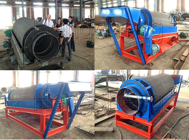 Mini Mining Equipment : Trommel screen alluvial gold mining machine small
