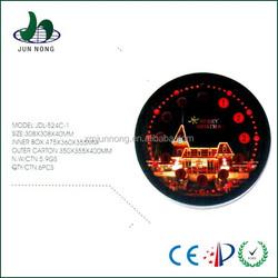 Round luminous christmas decoration led wall clock