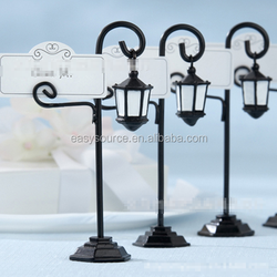 New arrival name card clip wedding and event supplies street lamp Place seat card holder