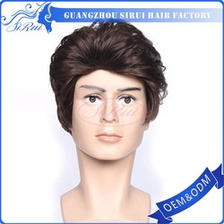 Hot selling high quality human hair afro wigs for black men