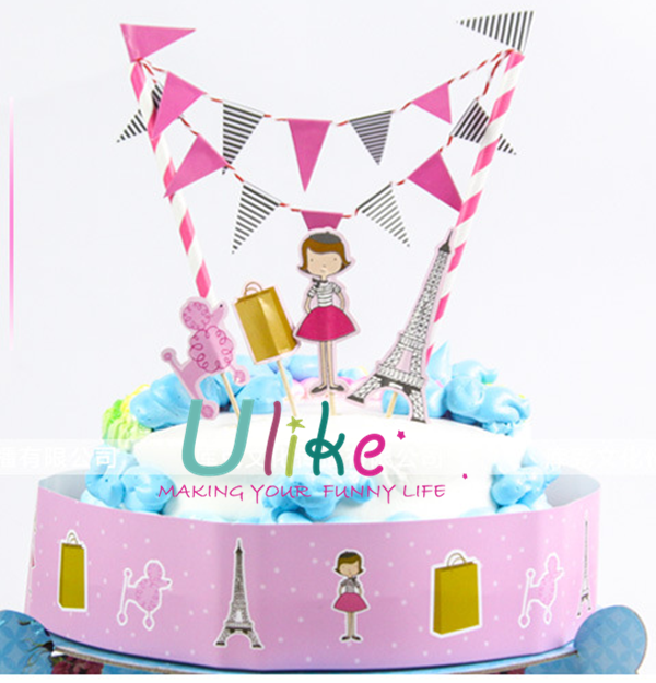 Kids Party Cake Decor Happy Birthday Cake Toppers Cake Decoration