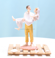 Just Married Beach Couple Figurine popular wedding cake toppers