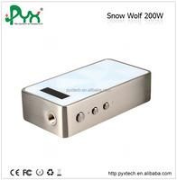 2015 Newest high wattage SnowWolf 200w T C Box Mod Authentic 200w Mod from pyx skype: sale 2645