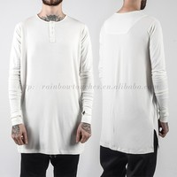 jersey fitted sleeves men wholesale plain white tshirts