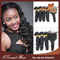 China cheap 100 pure brazilian bouncy curl human hair weaving have different size