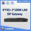 Fanless Design 8FXS VoIP Phone Gateway SIP Gateway