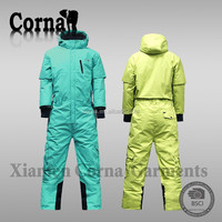 Professional polyester windproof good quality one piece ski suit adults