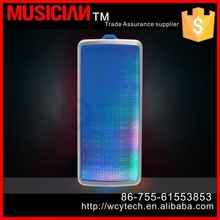 2015 christmas gift mini wireless led light bluetooth speaker support MP3/WMA/WAV music format in TF card to play