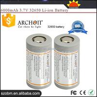 ARCHON D32VR/D45 High Capacity 6000mAh 3.7V Rechargeable Li-ion 32650 Battery