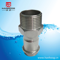 High quality stainless steel male pipe threaded end coupling