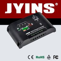 CE RoHS certificated hot sale 12V/24V 5A to 60A solar controller sr868c8