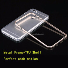 Metal frame and TPU cover case for iphone6 plus cell phone case for iphone 6plus