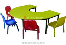 Guangdong High Quality Factory and Writing for Kids Table Chairs of School Furniture