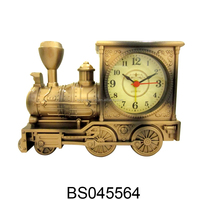 China Promotion Gifts Antique Bronze Train Alarm Clock