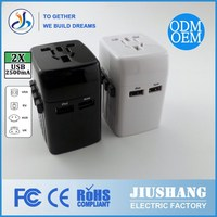 ISO 2008 CE&RoHS$ FCC 2015Wholesale High Quality Travel Adapter Plug