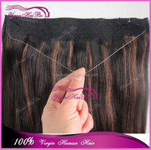 2015 New! Best 6A quality cheap price 10-30inch highlight colors virgin mongolian straight two tone flip in hair extensions