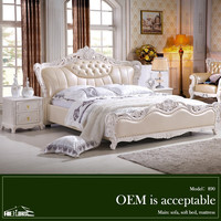 890#california king size bed designs of antique solid wood bedroom sleigh bed