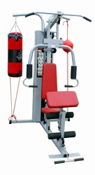 Guangzhou fitness equipment strength exercise equipment AMA7000F 3 station home gym with boxing sandbag and speed ball