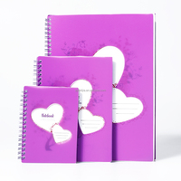 clourful pp cover school spiral notebook with die cut