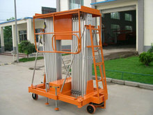 Hotel used aluminum aerial work platform, mobile man lift