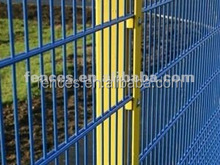 pvc coated double wire mesh fence panel (cheap fence)
