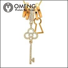 rose gold key chain neckalce pendant cheap price