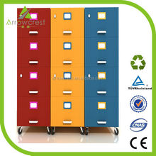 2015 Arrowcrest metal office furniture 4 drawer colorful mobile steel filing cabinets