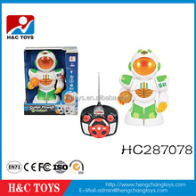 Intelligent 4 channel remote control robot with basketball with light/music for sale HC287078