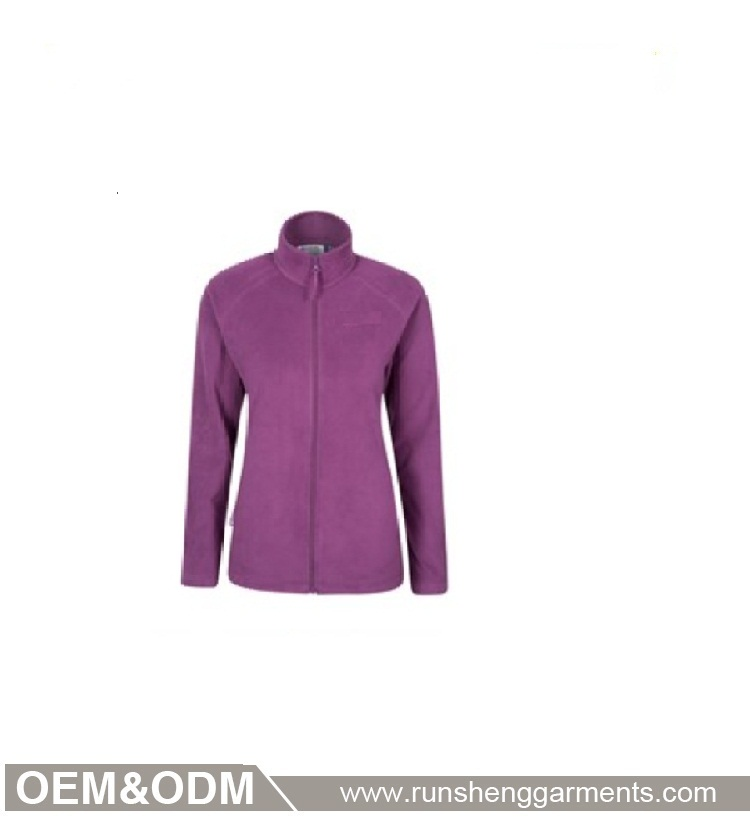 Blackberry full zip casaco de lã das mulheres