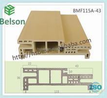 wood and plastic composite WPC door jamb/frame