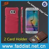hot selling mobile phone case for Samsung galaxy s6 edge back case with card holder