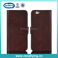 wholesale crazy horse pattern leather mobile phone case for iphone 6 with 4.7 size