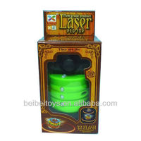 Kids Plastic Laser Peg Top, Light Up Spinnning Top Toy with Music