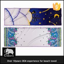 Absorbent microfiber flag printed beach towel blanket