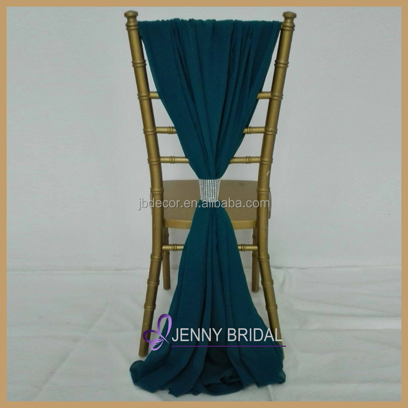 sh043m cheap chiffon chair sash wedding decoration chair