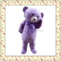 Hot sale bear costume unisex fashion lovely plush teddy bear mascot costume for adult