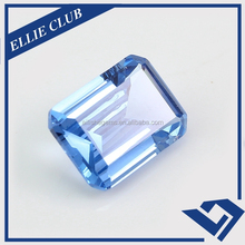 China supplier lab created emerald cut light blue spinel price per carat