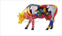 Hand Made Home Decorative Products Resin Cow Statue