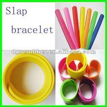 Custom silicone slap bracelets for promotion gift